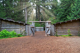 Sun Rays over Fort Clatsop