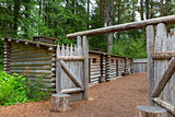 Gate to Log Camp at Fort Clatsop