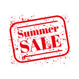 Summer sale stamp red