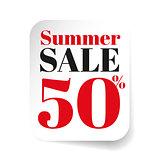 Summer Sale label sticker