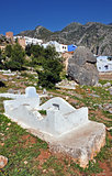 Old cemetery in Chefchaouen, Morocco.