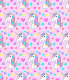 pattern with colorful unicorn