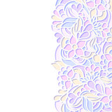 Floral colorful border