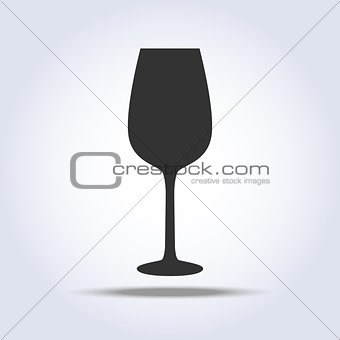 Wineglass goblet object in gray colors
