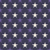 Ultra violet starfish seamless pattern. Vector illustration