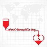 Vector Illustration of World Hemophilia Day Greeting