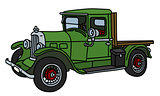 The vintage green lorry