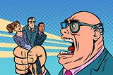 Boss yells at subordinates