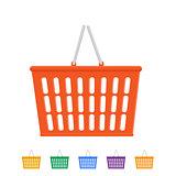Plastic shopping basket.