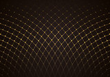 Gold Net Pattern over Dark Background