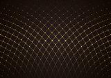 Gold Net Pattern over Dark Background
