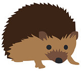 Vector Cute Hedgehog