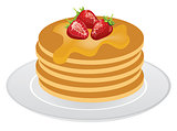 Vector Pancakes Isolated