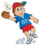 Baseball player theme image 1