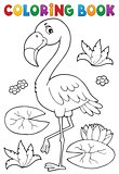 Coloring book flamingo theme 2