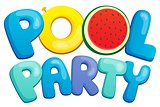 Pool party sign theme 1