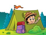 Scout in tent theme image 4