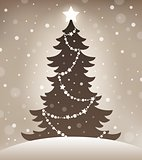 Stylized silhouette of Christmas tree 1