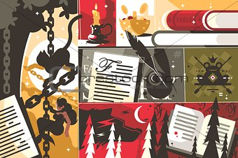 Fairy tale background abstract
