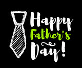 Happy father's day lettering congratulations. Vector