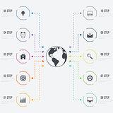 Vector illustration infographics 10 options