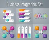 Set with infographics
