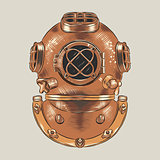 Diving helmet vector illustration