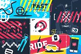 Extreme sport abstract background
