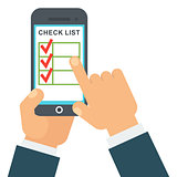 Checklist in smartphone