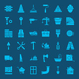 Building Construction Solid Web Icons