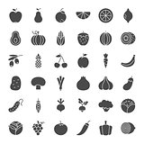 Fruit Vegetable Solid Web Icons