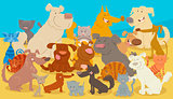 dogs and cats cartoon animal characters