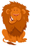 funny lion cartoon wild animal character