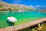 Srebreno coastline and waterfront view