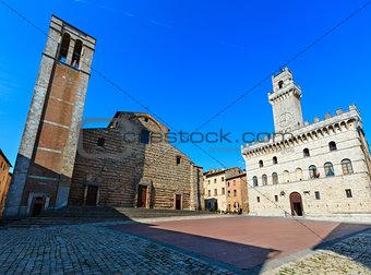 Montepulciano Piazza Grande, Tuscany, Italy