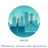 Dallas famous city scape.