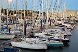 Parking of boats and yachts in Lisbon, Portugal