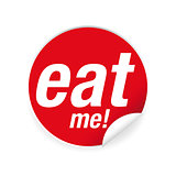 Eat me label sign