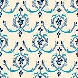 Seamless vector pattern with oriental motifs and ornaments. Morocco