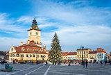 Brasov Town Hall Square in Romania