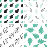 Patterns with green and black leaves