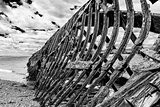 Ship wreck from 19th century in Chile