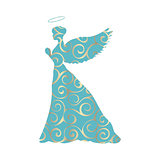 Angel silhouette christmas religious christian
