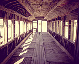 Old train station in Bolivia desert