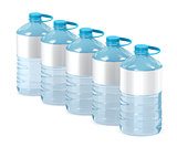 Big water bottles on white