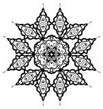Snowflake Mandala. Vintage decorative elements.