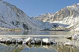 Convict Lake in winter near Mammoth Lakes, CA.