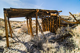 Boarded up old pumice mine shaft, Mono County California
