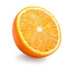 Half of orange fruit isolated