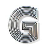 Wire outline font letter G 3D